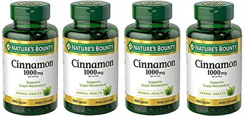 Natures Bounty Cinnamon 1000mg Capsules