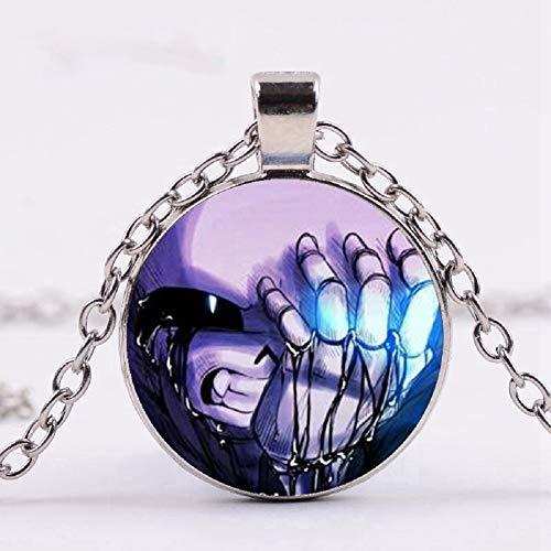 Children's Fashion Creepy Macaroni Necklace Glass Pendant Chain Jeff Killer Gift -