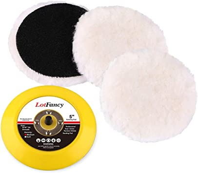 "2/""//3/""//4/""//5/""//6/""//7/"" Wool Waxing Polishing Buffing Pad Woolen Wheel Backing Plate"