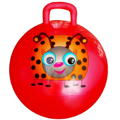 Space Hopper Ball: Red, 18in/45cm Diameter for Ages 3-6, Pump Included (Hop Ball, Kangaroo Bouncer, Hoppity Hop, Sit and Bounce, Jumping Ball)