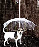 NCElec Lightweight 30in (Diameter) Pet Umbrella with Leash, Fit Max 12lb 23in Dog