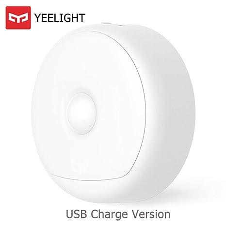 OLLIVAN Original Xiaomi Yeelight - Luz nocturna con sensor de movimiento (recargable, LED,
