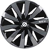 Sparco SPC1691BKGR wheel covers Lazio 16-inch black/grey