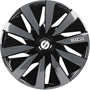 Sparco SPC1591BKGR Wheel Covers Lazio 15-inch Black/Grey