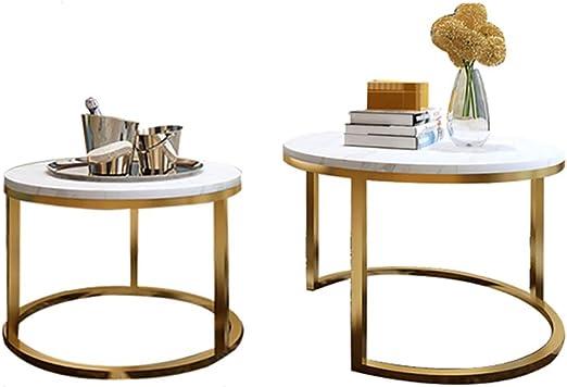 FZH Conjuntos De Mesa para Sala De Estar Mesas De Café Anidadas, Mesas De Sofá De