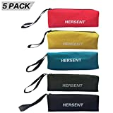 Zippered Canvas Tool Bag with Hanging Loop Multi-Purpose Heavy Duty Tool Pouch Handy Tote Bags for Men Women - Smart Assorted Colored Storage Organizer 5 Pack HGJ09-US (5 Color Assorted)