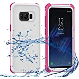 Samsung Galaxy S8 Plus Waterproof Case, AICase ShockProof, SnowProof, DustProof IP68 Certified Dual-use Full Sealed Heavy Duty Protective Waterproof Cover for Samsung Galaxy S8 Plus(6.2 inches), Pink