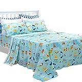 ocean sheets - Brandream Kids Bedding Set Twin Size Nautical Bedding Sheets Set 100% Cotton