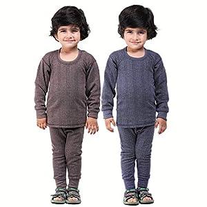 Kuchipoo Unisex Regular Fit Thermal Top and Pyjama Set (Pack of 2)