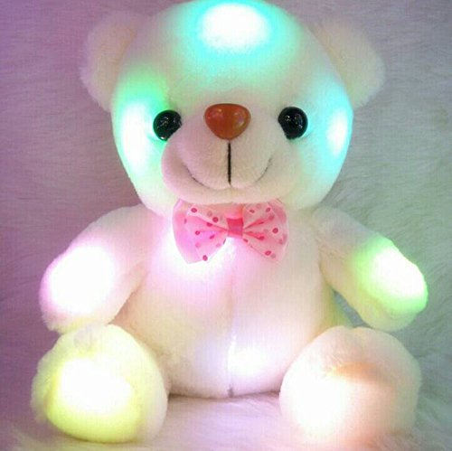 New Styles Colorful Glowing Plush Toy Luminous Animal Teddy Bear Plush Doll for Girl Baby Birthday Gift Lovely Dolls for Baby. (Build A Bear Stroller compare prices)