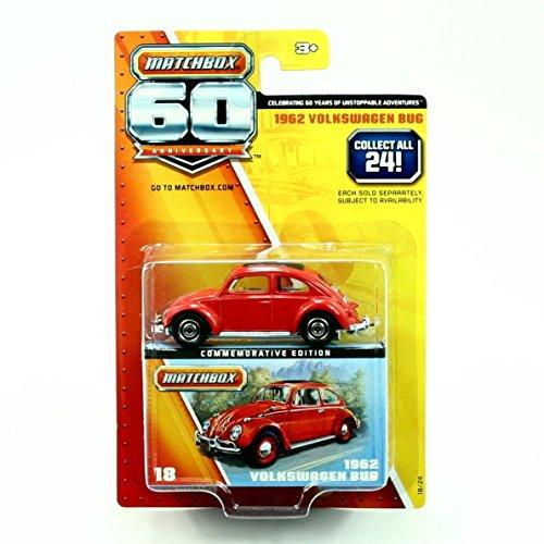 Matchbox Commemorative Edition 1962 Volkswagen Bug 60th Anniversary