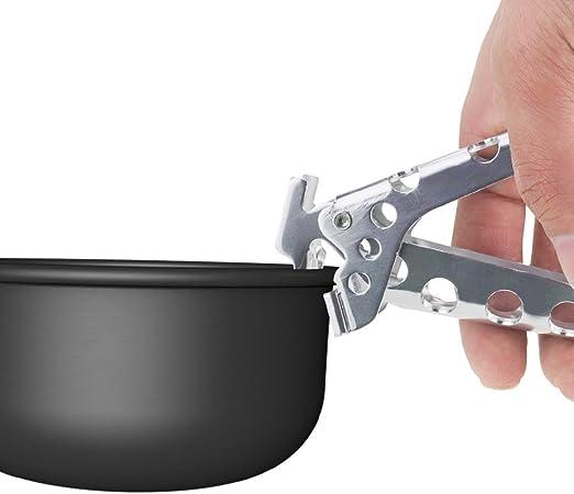 Pinzas de aluminio para agarrar, utensilios de cocina para acampar al aire libre Herramientas Pan Pot Gripper Aleación de aluminio Pinzas para ollas ...