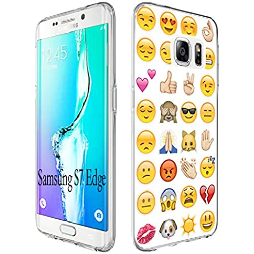 S7 Edge Case Cute, Gifun [Anti-Slide] and [Drop Protection] Soft TPU Premium Flexible Full Protective Case Cover Sales