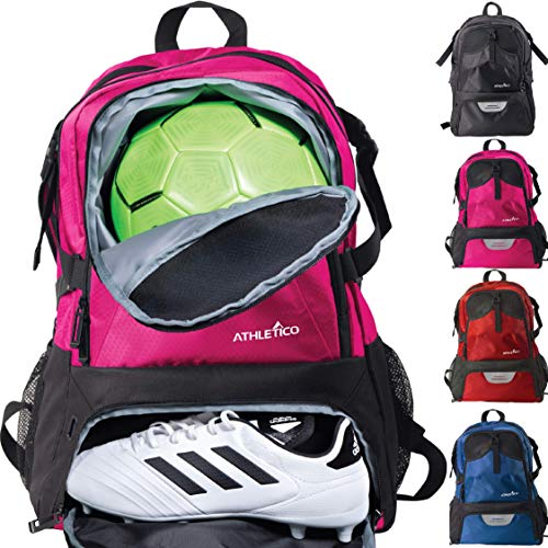 Girls Basketball Bags (Athletico National Soccer Bag - Backpack for Soccer, Basketball & Football Includes Separate Cleat and Ball Holder)