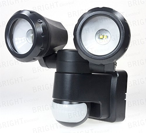 Led double pir light twin flood lights adjustable security lights led double pir light twin flood lights adjustable security lights motion sensor mozeypictures Choice Image