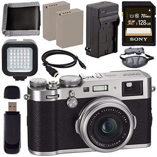 Fujifilm X100F Digital Camera Silver 128GB + Battery + Charger