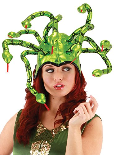 Kids Medusa Costumes - UHC Women's Nine Twisty Snakes Medusa Hat Halloween Adult Costume Accessory