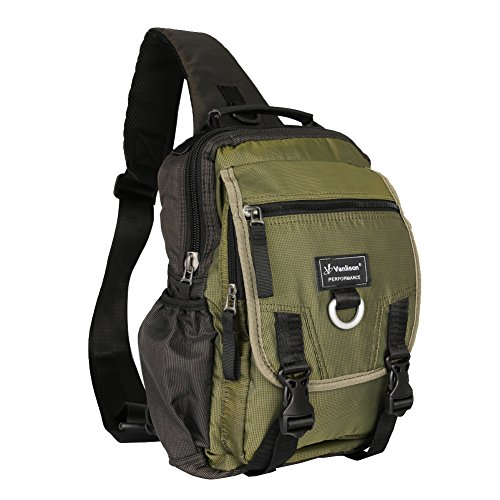 Vanlison Sling Bag Backpack Cross Body Messenger Bag Shoulder Backpack Travel Rucksack Army Green