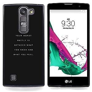 """El fracaso no es una opción Negro Inspiring"""" - Metal de aluminio y de plástico duro Caja del teléfono - Negro - LG Magna / G4C / H525N H522Y H520N H502F H500F (G4 MINI,NOT FOR LG G4)"""