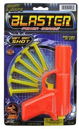 Ja-Ru Blaster Power Series Plastic Dart Gun with Soft Dart Shots - Orange
