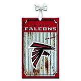 Team Sports America 3OT3801MC Atlanta Falcons Metal Corrugate Ornament