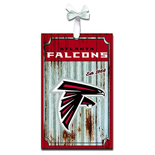 Team Sports America 3OT3801MC Atlanta Falcons Metal Corrugate Ornament