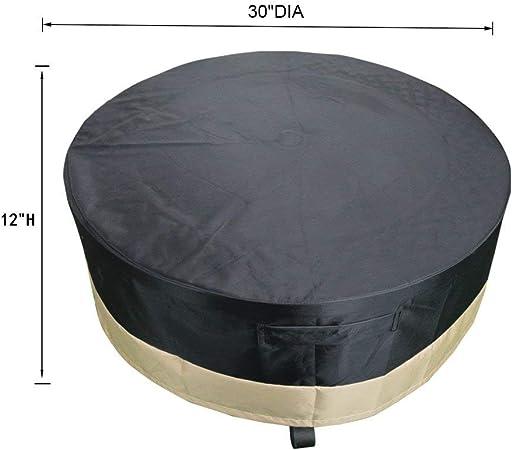 Onlyfire φ76cm Funda para Brasero Cobertura de Pozo de Fuego, Negro PVC, 30