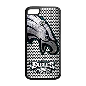 Get Your Of TPU Protective Cover Case Otterbox For Iphone 5C - American Football Team Philadelphia Eagles Logo In Metal Style Iron Mesh