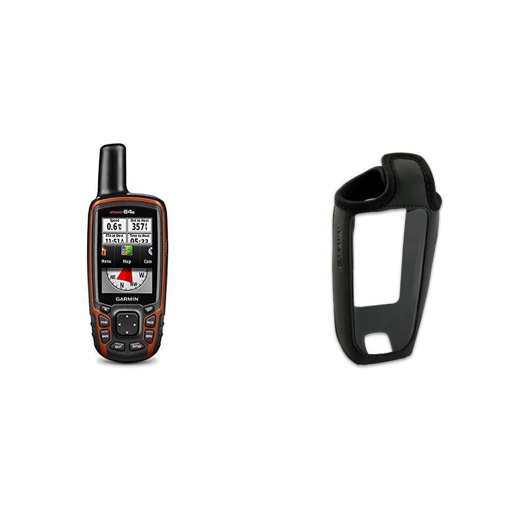 Bussola Elettronica Arancione//Nero /& 010-11526-00 Custodia per GPS Garmin GPSMAP 64S GPS Portatile Impermeabile Serie Gpsmap 62 Altimetro Barometrico Schermo Colori 2,6