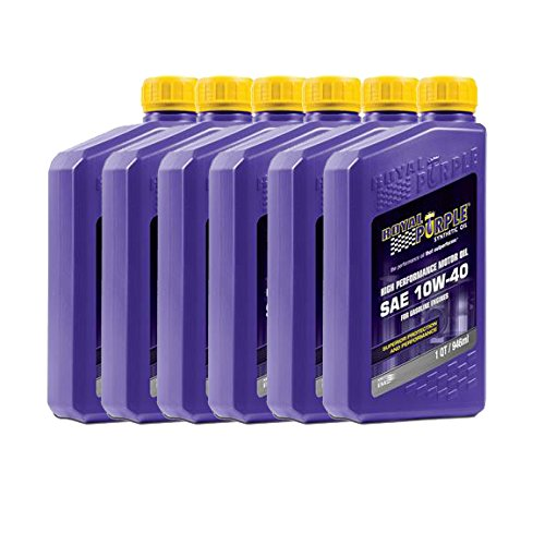 Royal Purple 01315 Max-Cycle Synthetic Motorcycle Oil 10W-40 for Highly Stressed Engines/Transmissions - 1 qt (Case of 6)