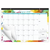 Cabbrix August 2018 - December 2019 Monthly Desk Pad Calendar, 17'' x 12'', Ruled Blocks