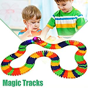 Magic Tracks with 1 Race Car | As Seen on TV | 220 Piece Glowing Track Set