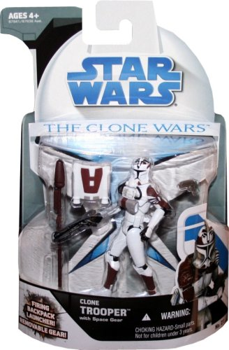 Hasbro Star Wars Clone Wars Animated Action Figure No. 21 Clone Trooper with Space ()