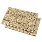 MAYSHINE Chenille Bathroom Rugs Extra Soft and Absorbent Shaggy Bath Mats Machine Wash/Dry, Perfect Plush Carpet Mat for Kitchen Tub, Shower, and Doormats