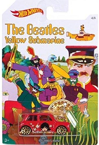morris-mini-2016-hot-wheels-the-beatles-50th-anniversary-yellow-submarine-red-mini-cooper-164-scale-