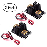 Hot Bed Power Module, Beauty Star 2 Pack General Add-on 3D Printer Heat Bed Mosfet Expansion Board MOS Tube High Current Load Module with Cables for 3D Printer