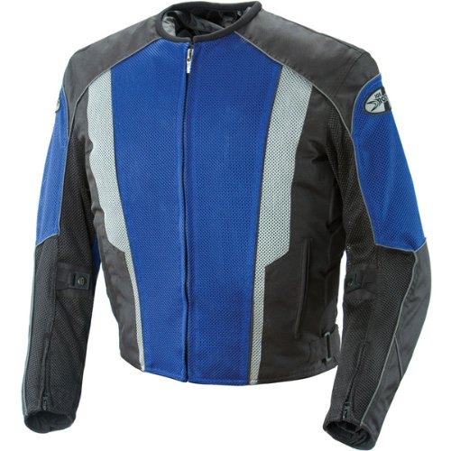 Joe Rocket Phoenix 5.0 Mens Blue/Black Mesh Motorcycle Jacket - Small