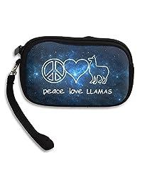 Peace Love Llamas Zip Travel Wallet Purse Coin Purse