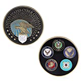 Roboco US Mint,Commemorative Coin Collection Artwork Plating Cyber Command Black American Army US Mint