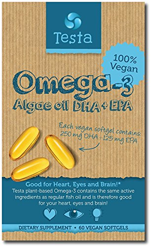 Algae oil - Pure and Vegan Omega-3 - Testa Omega 3 - 60 capsules