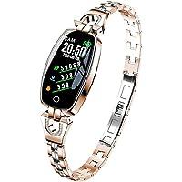 EElabper - Reloj inteligente H8 resistente al agua, pulsera inteligente, reloj de pulsera inteligente, frecuencia…