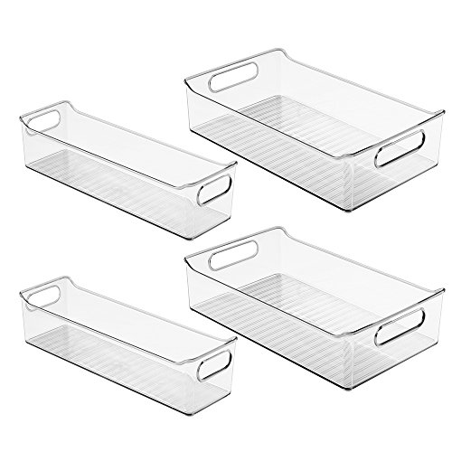 InterDesign Fridge Binz Storage Bins , Clear