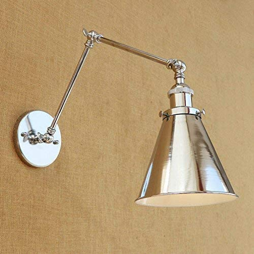 WHKHY Country Retro Pastoral Chrome Bearing Western Restaurant Coffee Shop Wall Lamp