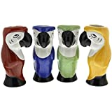 Parrot Tiki Glasses Set of 4