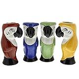 Parrot Tiki Glasses Set of 4
