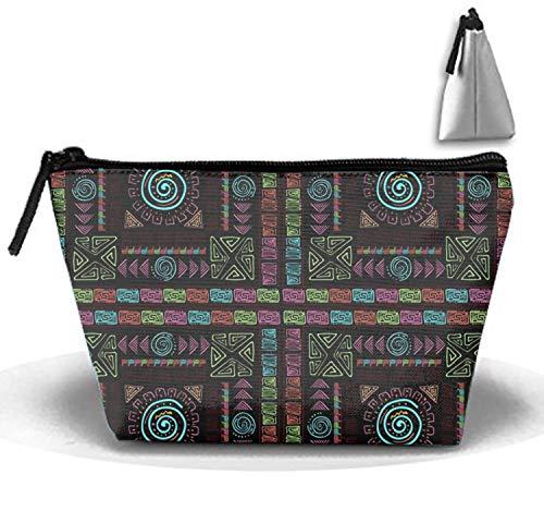 Price comparison product image Travel Makeup Ethnic Colorful Cosmetic Bag Hanging Storage Brush Organizer