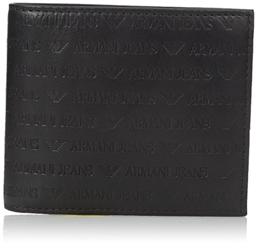 Armani Jeans Mens Black Wallet One Size: Amazon.es: Ropa y ...