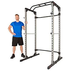 Fitness Reality 810XLT Super Max Power Cage with Optional Lat Pull down Attachment and Adjustable Leg Hold down