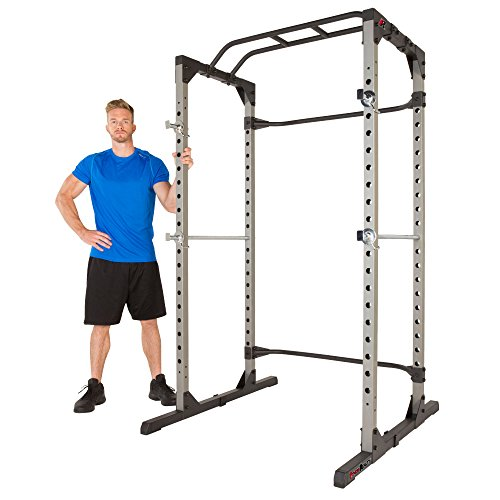 (Fitness Reality 810XLT Super Max Power Cage with The 800 lb Capacity Super Max 1000 Weight Bench Combo)