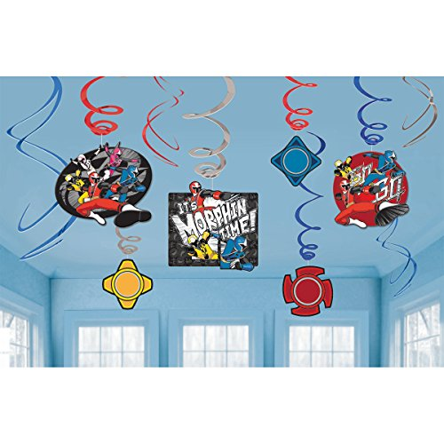 Power Rangers Megaforce Hanging Swirls Party Decoration(12 pack)